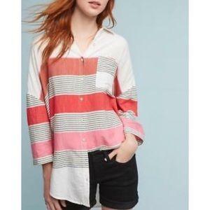Holding Horses Monroe Oversize Striped Shirt  M/L